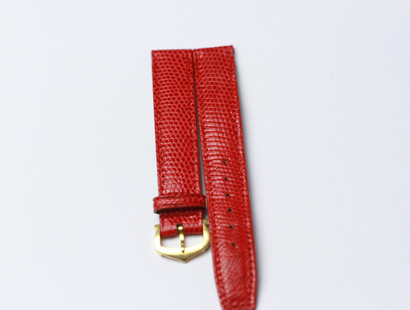 Cartier Leather Watchstrap with 18 KRT Buckle