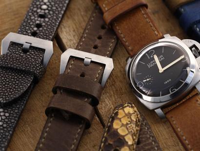 Handgemaakte leren horlogebanden
