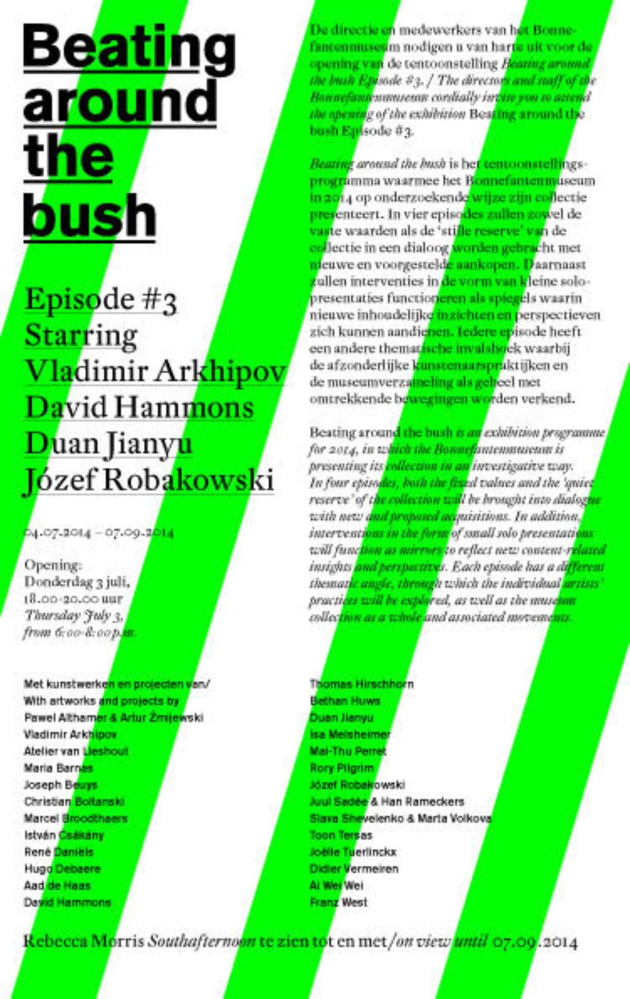 Uitnodiging Beating around the Bush #3