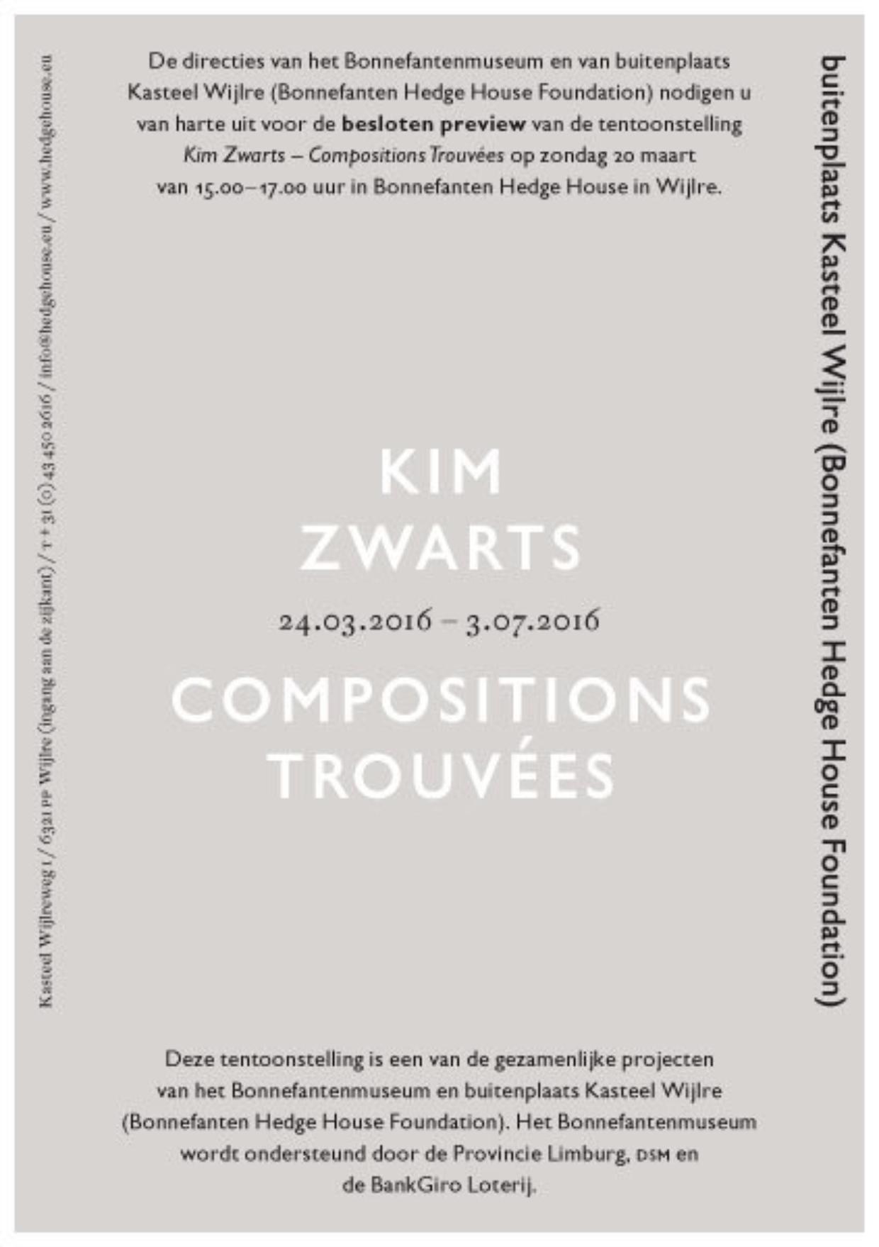 Zaalboekje Kim Zwarts