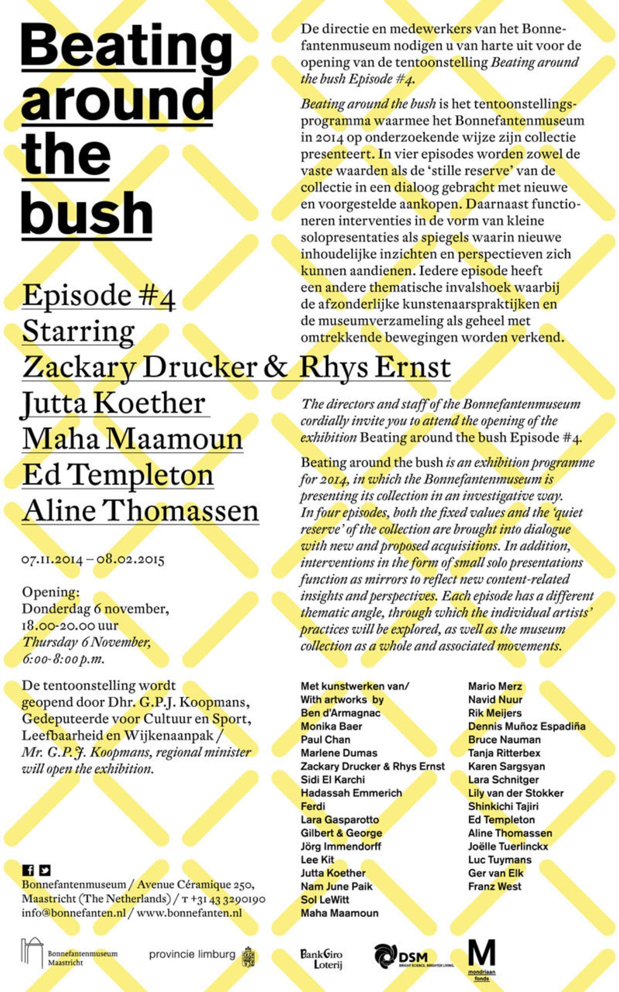 Uitnodiging Beating around the Bush #4
