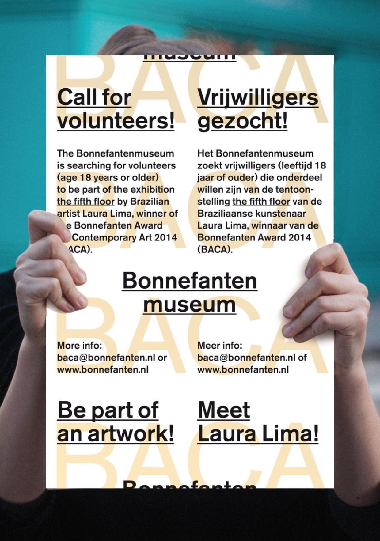 Affiche Vrijwilligers gezocht
