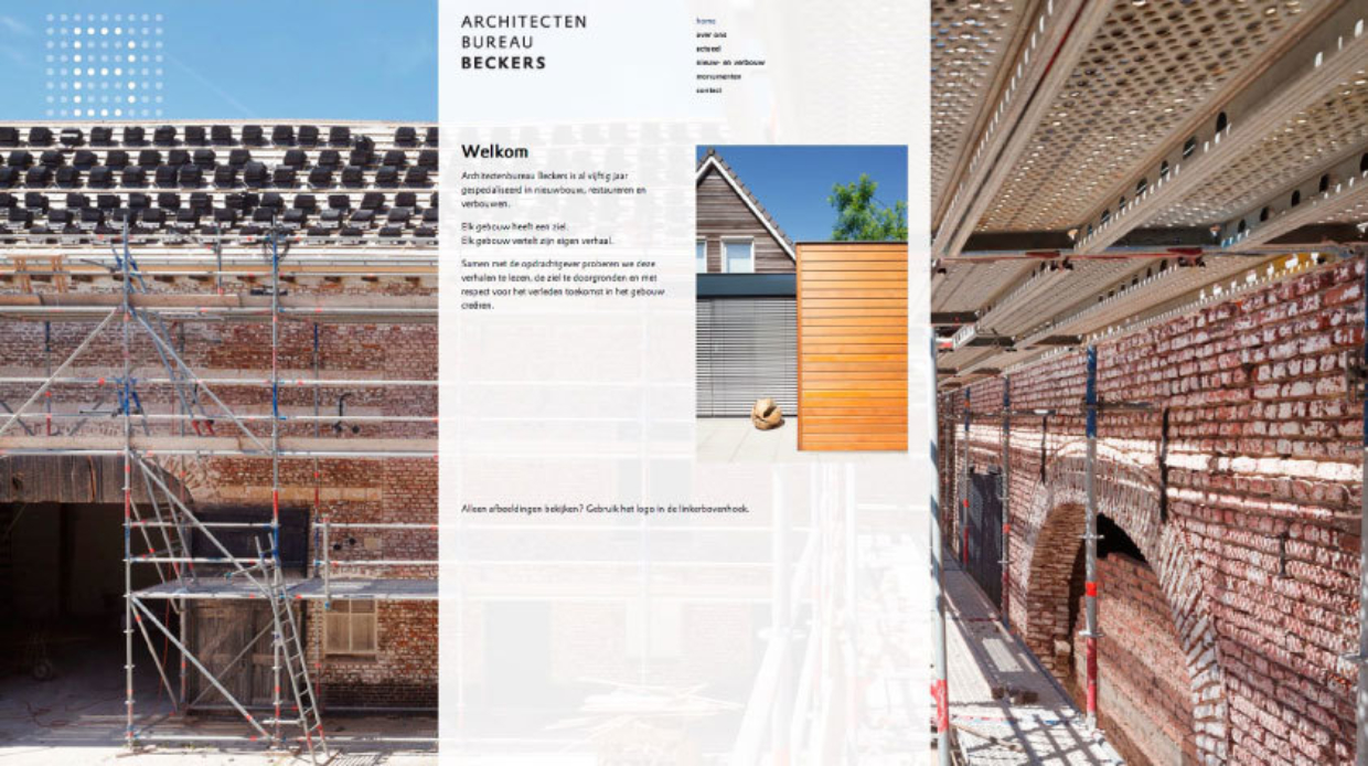 Website Architectenbureau Beckers