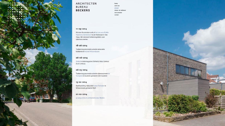 Website Architectenbureau Beckers