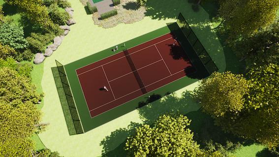 Prive tennisbaan kunstgras lichtenvoorde