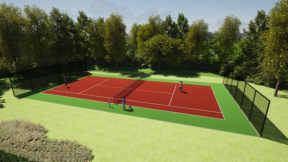 Prive tennis kunstgras achtertuin vario fields lichtenvoorde