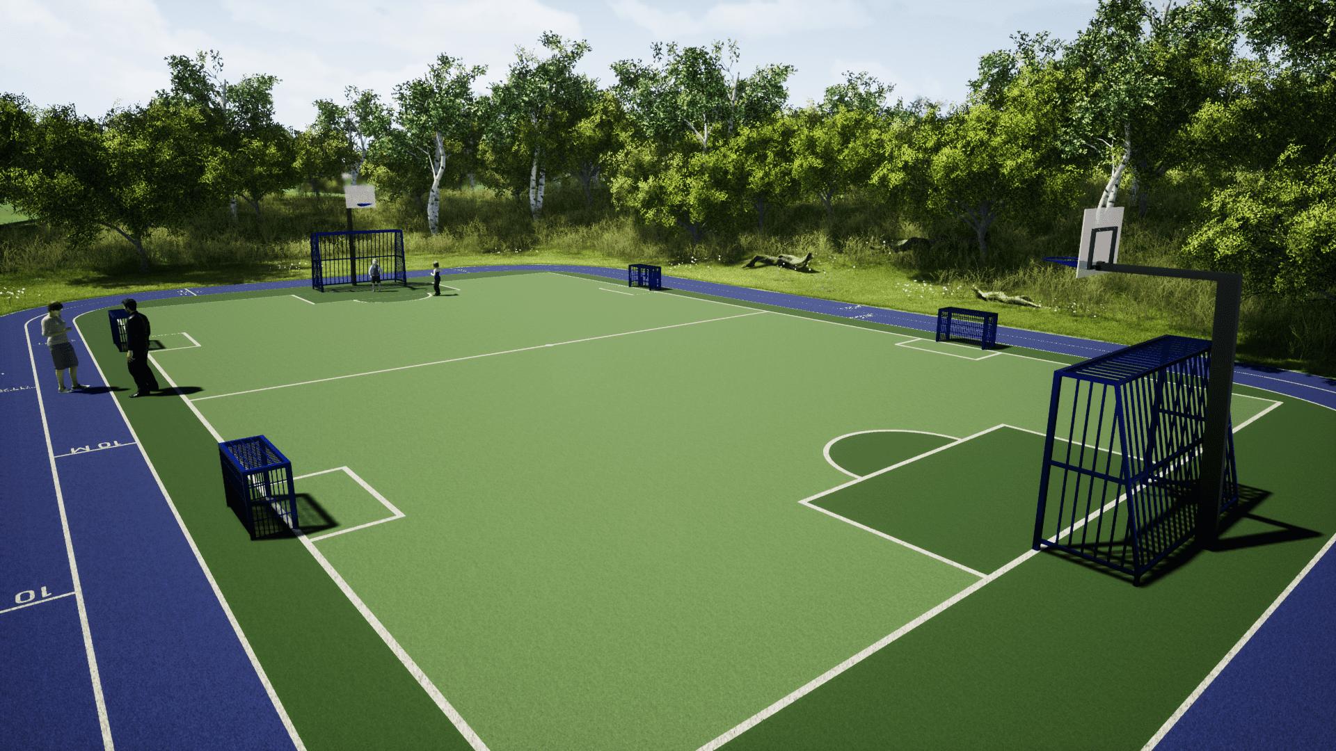 Sportveld Rio Extra renderhoek