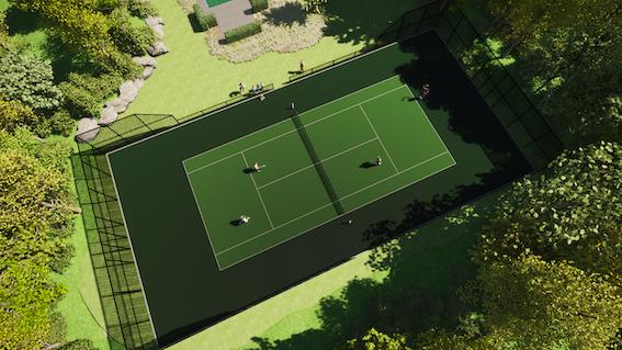 Tennisbaan privebaan kunstgras variolichtenvoorde