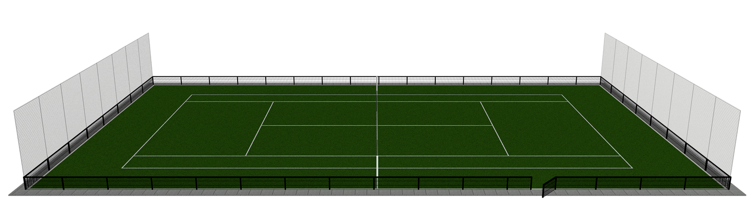 Tennisbaan tennisveld kunstgras tuin prive vario