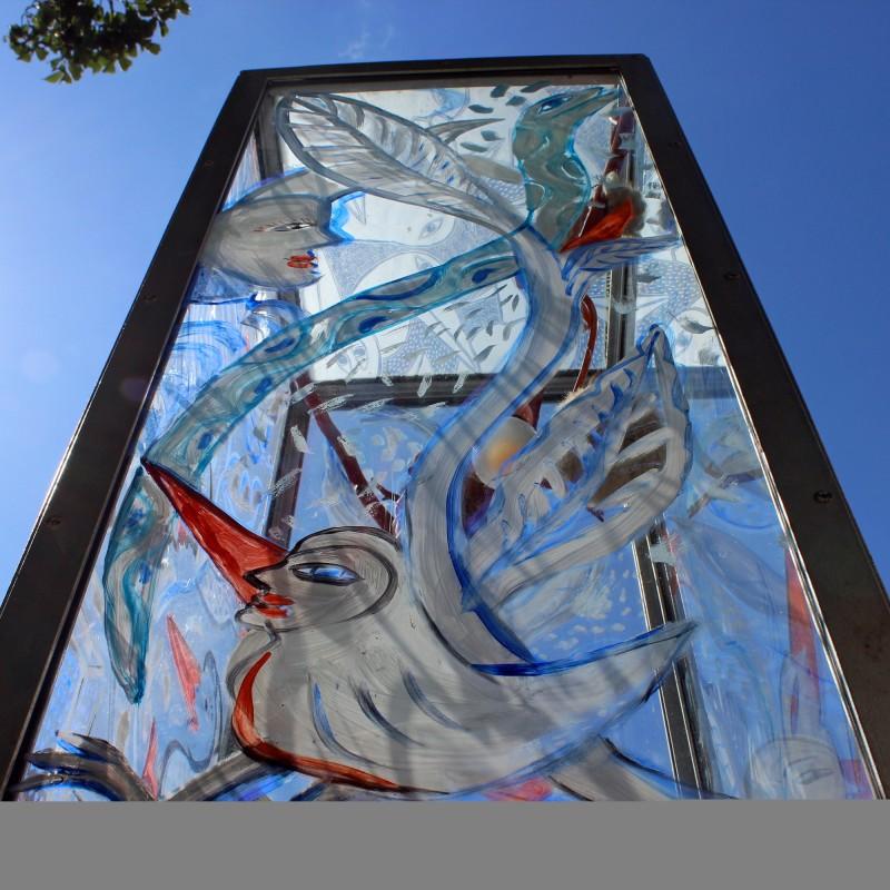 Glaskunst in der Strasse