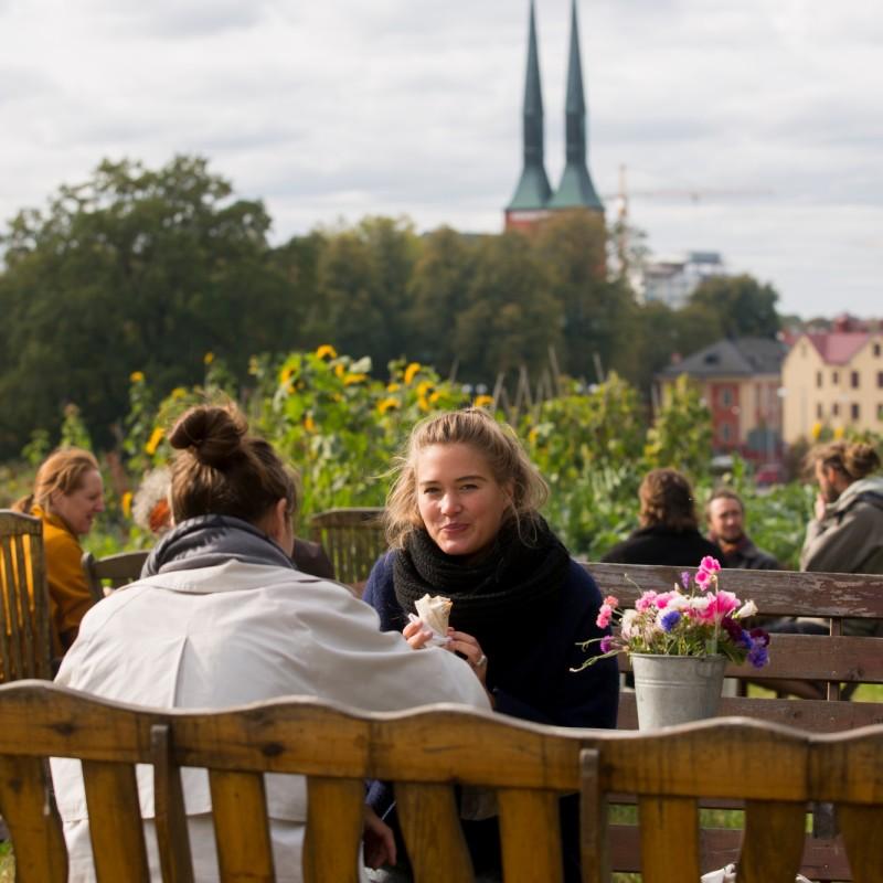 Eine grüne Oase mitten in Växjö