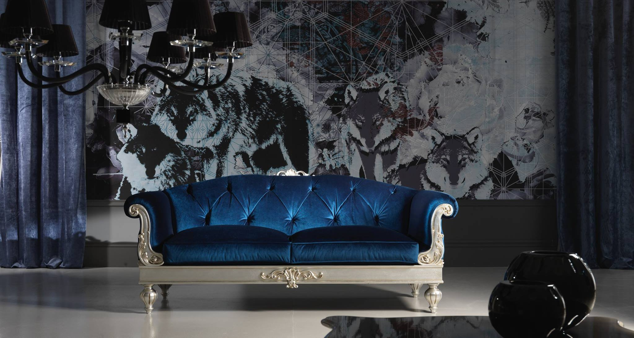 Veracchi_mobili_italian_furniture_classic_italian_luxury_sofa_set. A  Luxurious Blue Velvet Sofa Marries Classic Italian Design ...