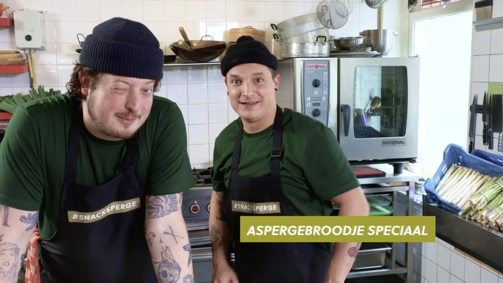 Job & Perry maken een aspergebroodje speciaal