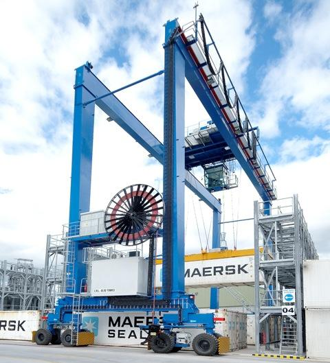 Liebherr Container Cranes On A Roll