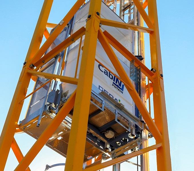 Geda & Potain unveil internal hoist | Vertikal net