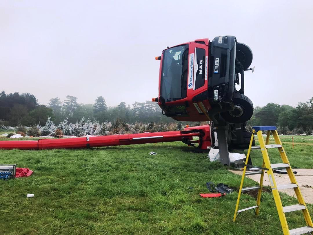 Truck mount overturn | Vertikal net