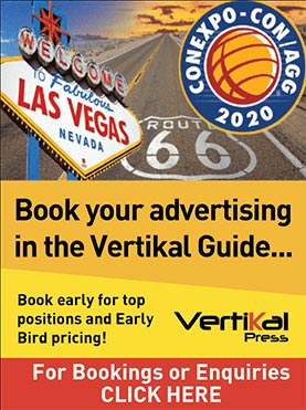 Book your advertising in the Vertikal Guide to Conexpo