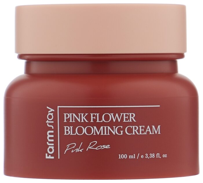 Farmstay Pink Flower Blooming Cream Pink Rose крем для лица с экстрактом розы