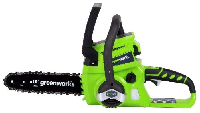 Цепная электрическая пила greenworks G24CS25 2.0Ah x1