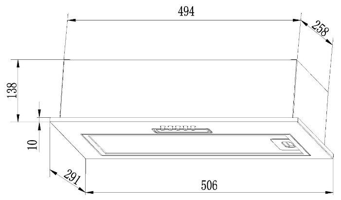 Встраиваемая вытяжка LEX GS BLOC Light 600 WH