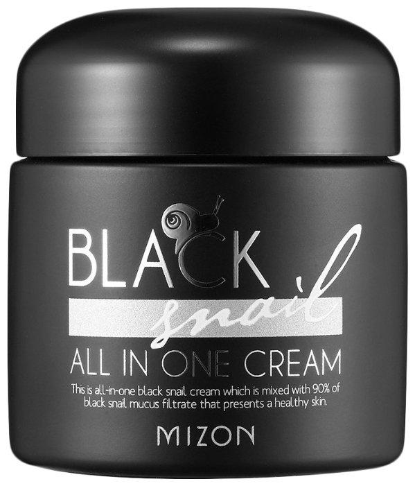 Mizon Black Snail All in one Cream Крем для лица с экстрактом черной улитки