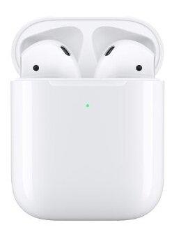 Наушники Apple AirPods 2 (беспроводная зарядка чехла) MRXJ2