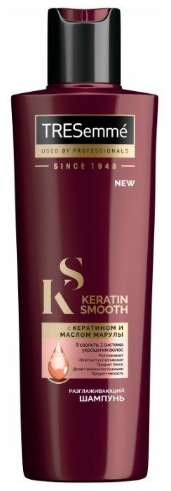 TRESemme шампунь Keratin Smooth разглаживающий с кератином и маслом марулы