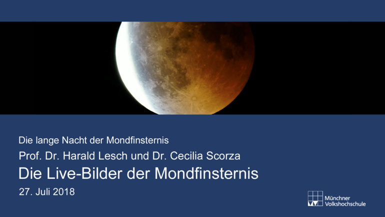 Livebilder Mondfinsternis am 27.7.2018