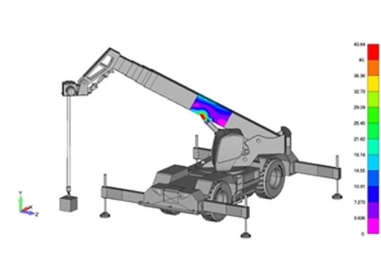 First image of project: Defensie machinebouw Motion hijs en telescoopkraan 01 - VIRO NL