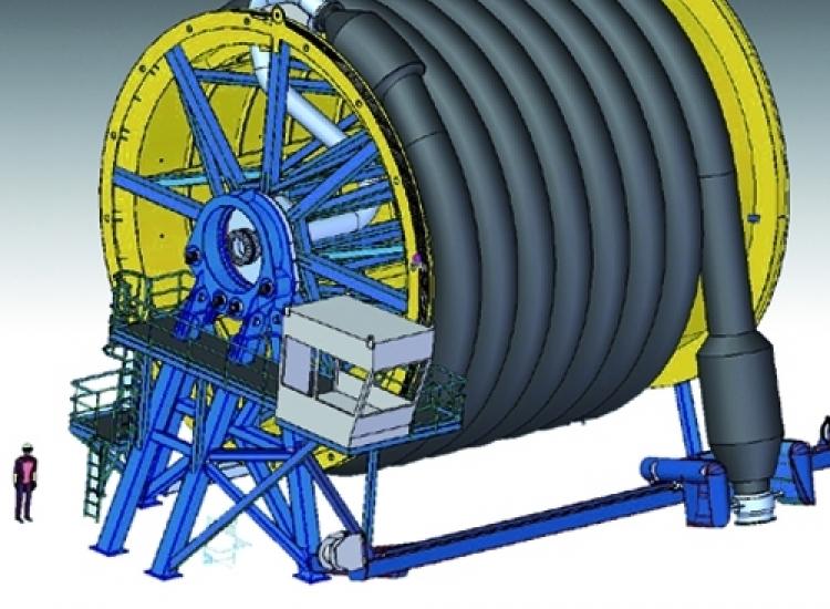 First image of project: Maritiem machinebouw ontwerp hosereel - VIRO EN