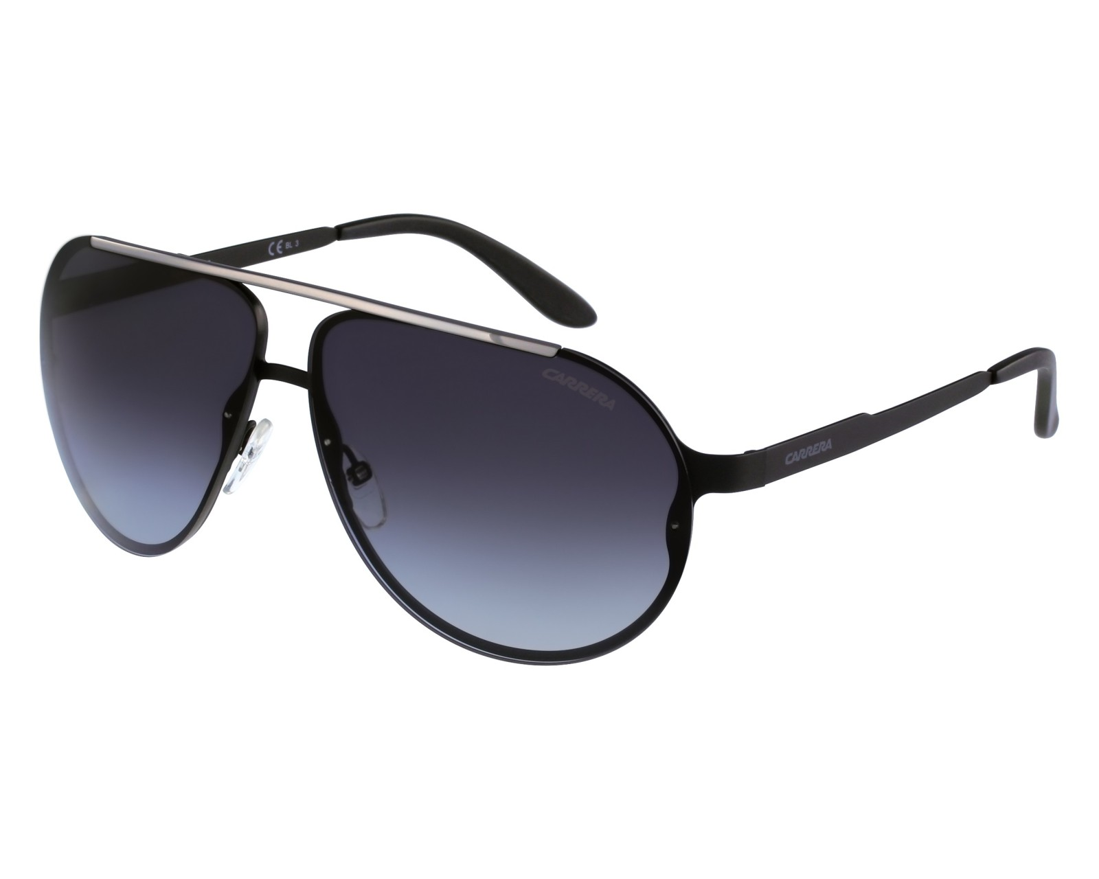 Carrera Eyewear Herren Sonnenbrille » CARRERA 90/S«, schwarz, 003/HD - schwarz/grau