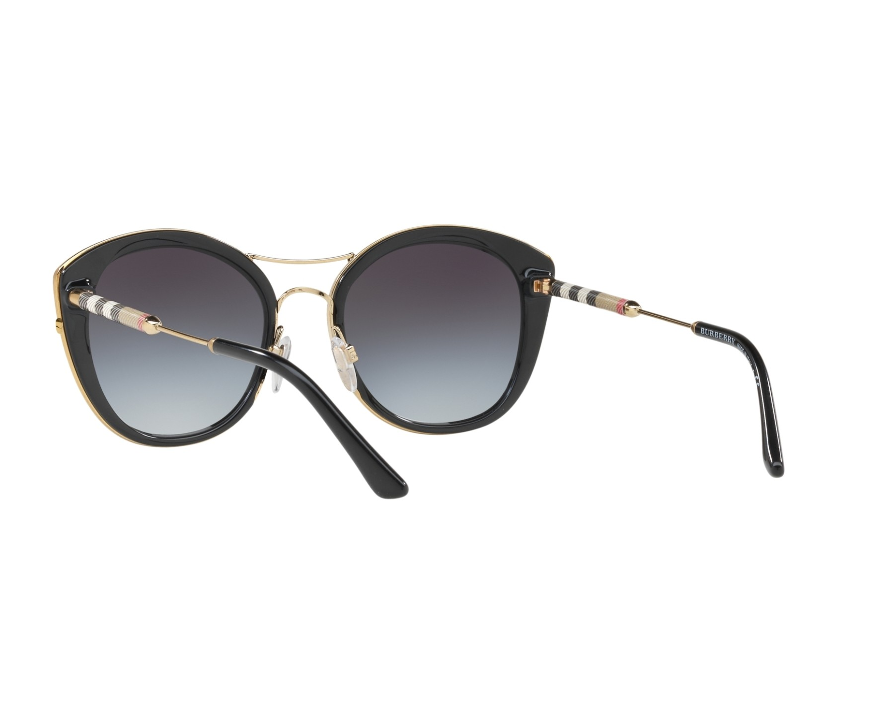 BURBERRY Burberry Damen Sonnenbrille » BE4251Q«, schwarz, 30018G - schwarz/grau