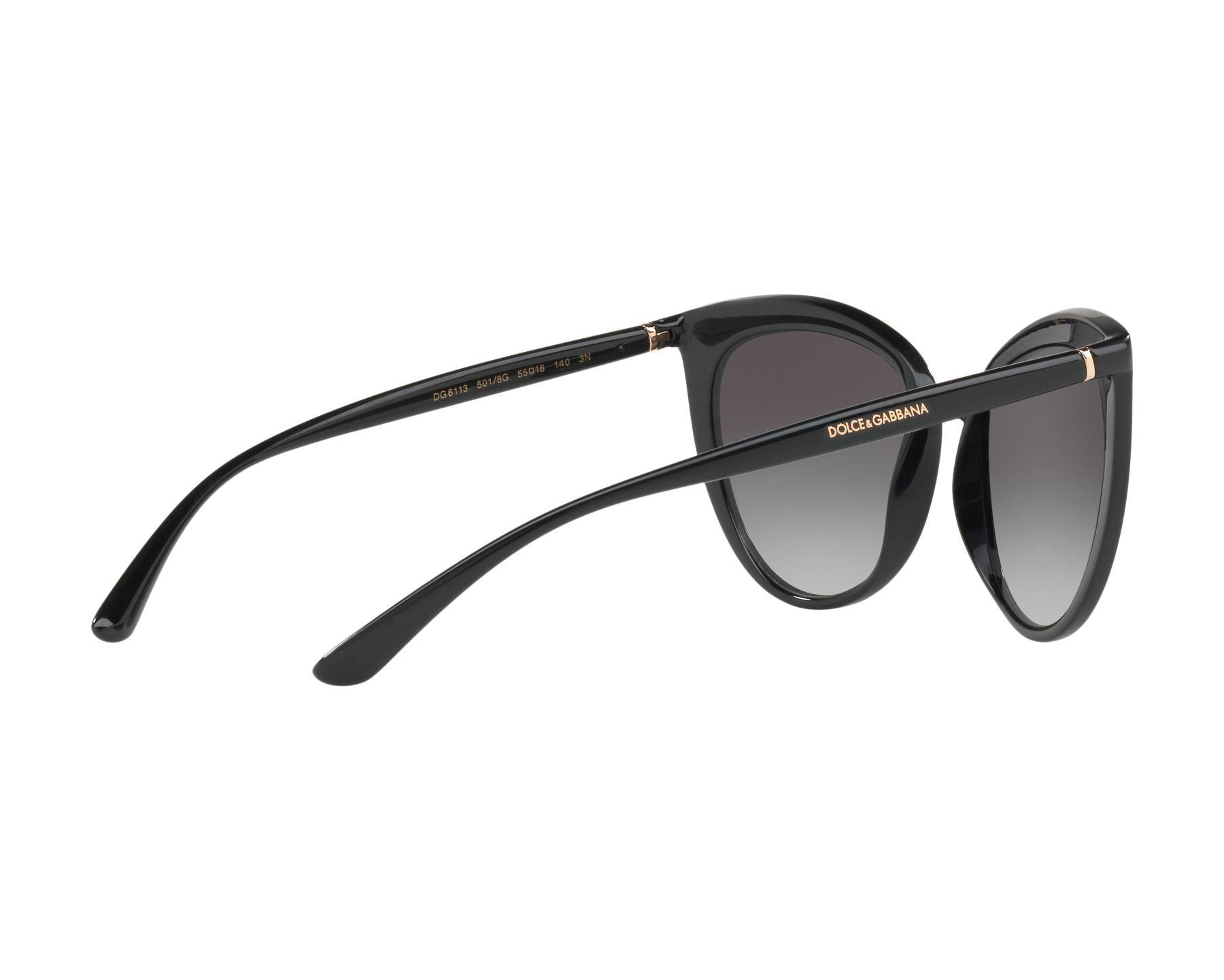 DOLCE & GABBANA Dolce & Gabbana Damen Sonnenbrille » DG6113«, schwarz, 501/8G - schwarz/grau