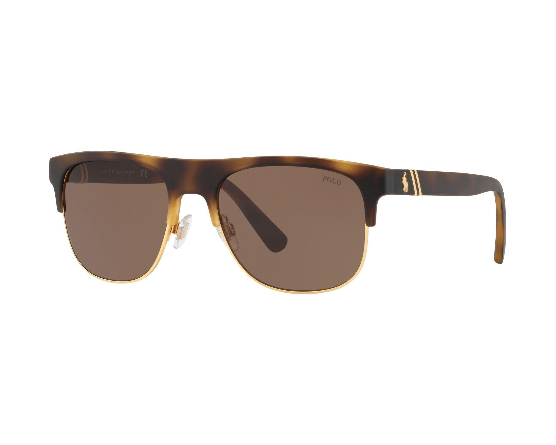 Polo Herren Sonnenbrille » PH4132«, braun, 518273 - braun/braun