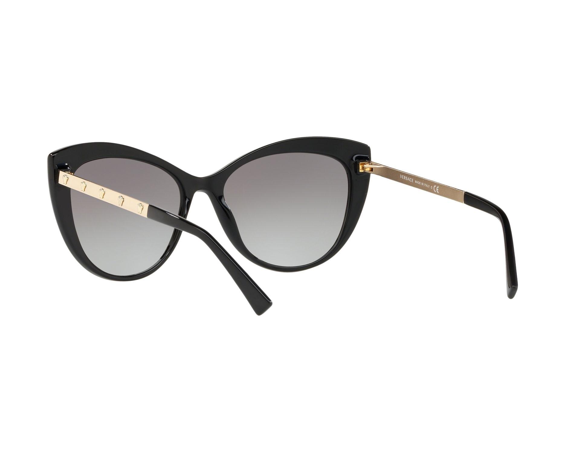 Versace Damen Sonnenbrille » VE4348«, schwarz, GB1/11 - schwarz/grau