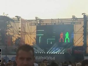 live visuals at Euphoria festival (Belgium)