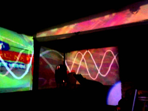 Sound reactive projection mapping test