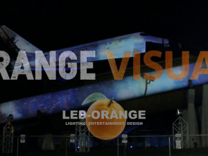 3D Projection Mapping on the Space Shuttle Orbiter Pathfinder by LED-Orange Orange Visual