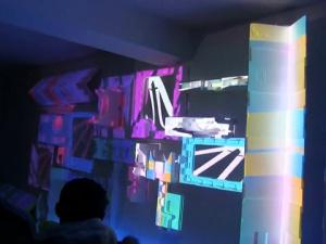 Recycled Video Mapping KinocirKus at B-Seite Mannheim
