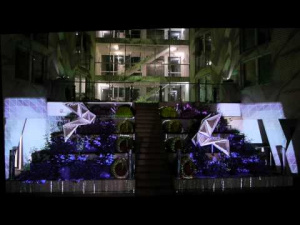 10 years Card eMotion - origami_videomapping