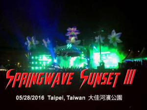 Springwave Sunset III @ Taipei, Taiwan 05/28/2016