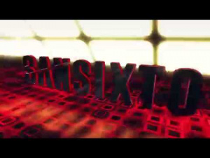 Sansixto 3D Red Grid
