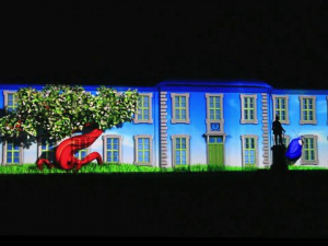 3D Projection Odense Culture Night 2012 - Odense Slot