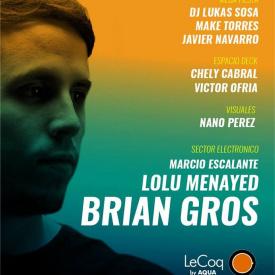 Visuales para Brian Gros en Lecoq San luis