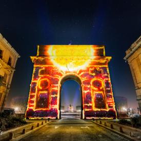 Coeur de Ville en Lumière 2016 - Arc de Triomphe