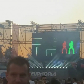 live visuals at Euphoria festival (Belgium)