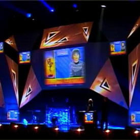 stage design, visuals & mapping by 3DEVA. TEFI-2009