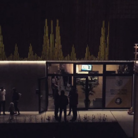 Daft Recording Studio -Grand Opening - Facade Mapping Installation
