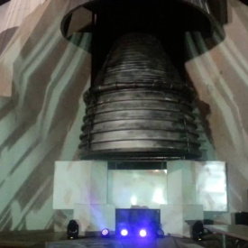 Projection Mapping the SaturnV F1 engine, event lighting Huntsville