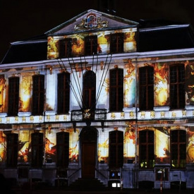 National Poetry Day Projection Mapping 2/3 - Townhall Roeselare, Belgium (Roeselare Is 'r voor jou)